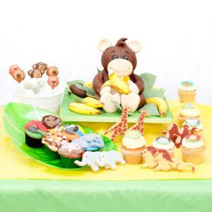 Jungle theme custom dessert table