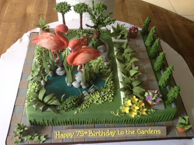 Kensington Roof Gardens Flamingo Cake Cakes By Robin