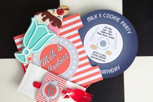 Milk and cookies bar party ideas