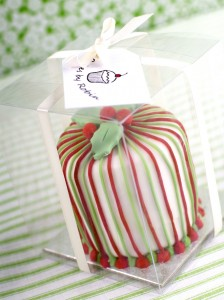Packaged Christmas cakes