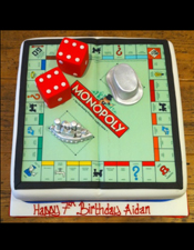 Monopoly themed birthday cake