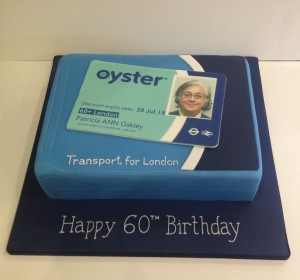 Oyster card birthday cake