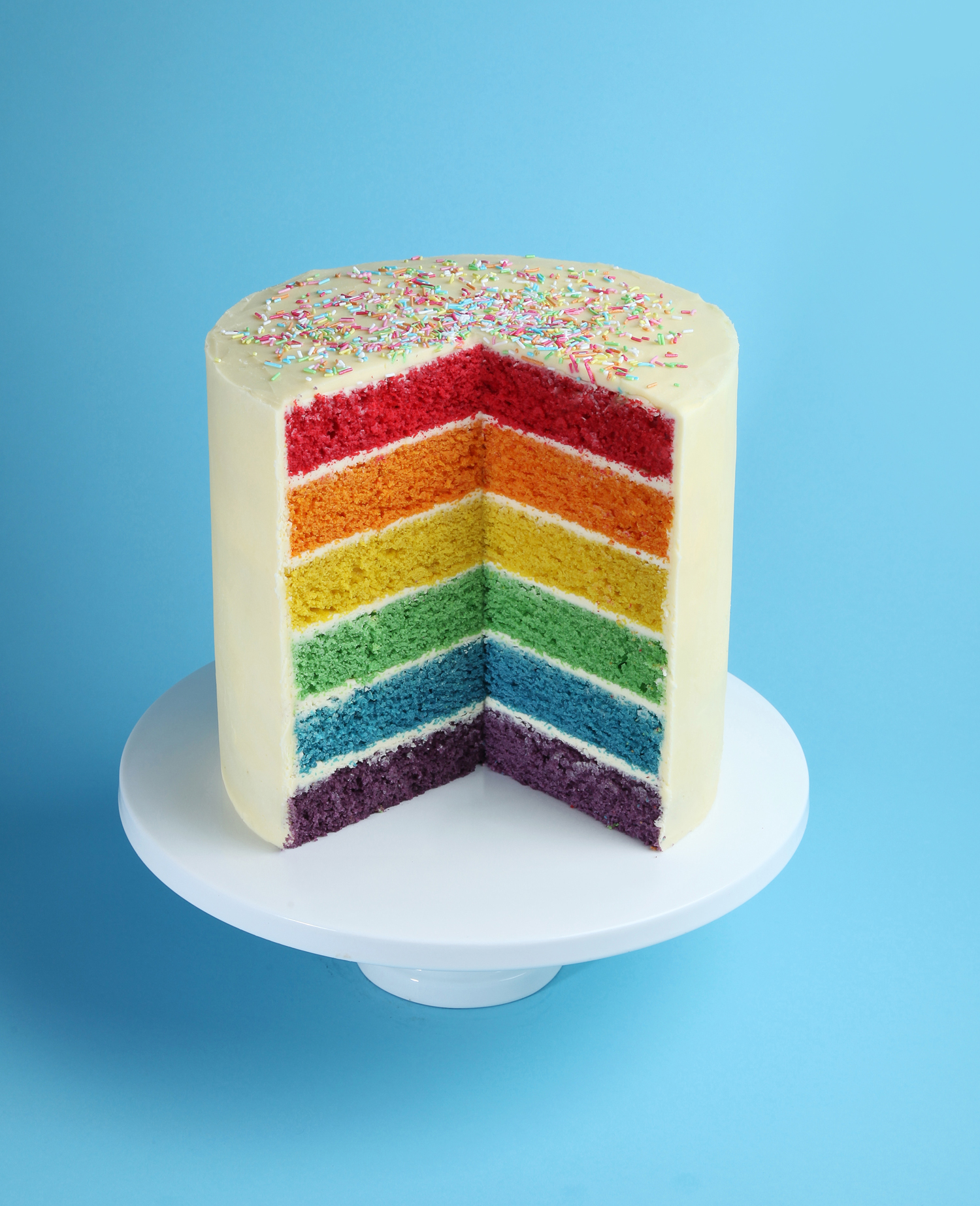 Rainbow Sponge Cake Recipe Uk