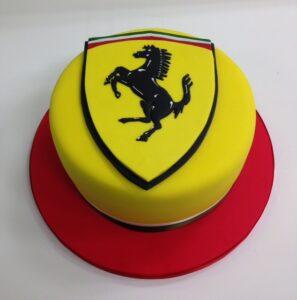 Corporate logo cake Ferrari cake