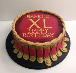 Roman gladiator birthday cake