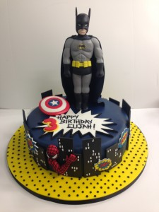 Batman sugar model cake