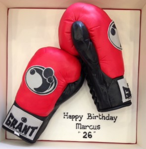 Boxing glove birthday cake Cakes by Robin