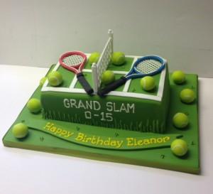 Tennis birthday cake Cakes by Robin