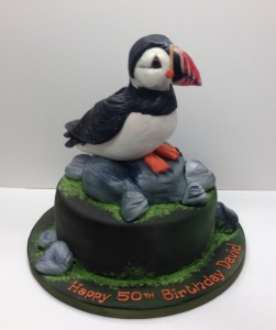 Puffin birthday cake