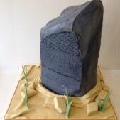 Rosetta stone cake