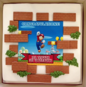 Supermario birthday cake