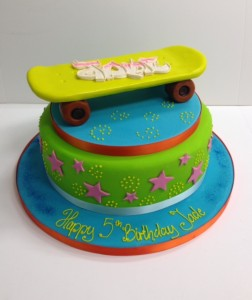 Skate board birthday cake