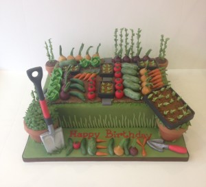 Allotment birthday cake Cakes by Robin