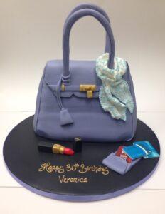 Designer handbag birthday cake