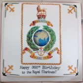 Royal Marines transfer cake