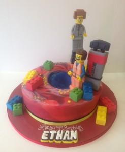 Lego Moveie birthday cake