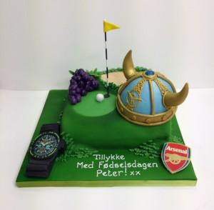 Interests on a cake birthday cake