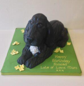 Cocker spaniel birthday cake