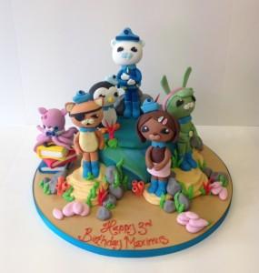 Octonauts children's birthday cake