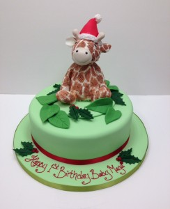 Jelly cat toy cake giraffe cake