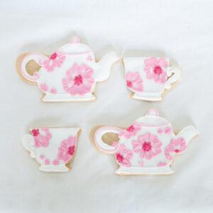 pink teapot cookies