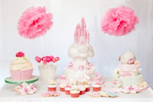 princess themed dessert table