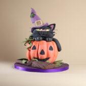 pumpkin-witch-cake