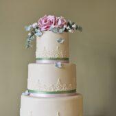 rose top cake