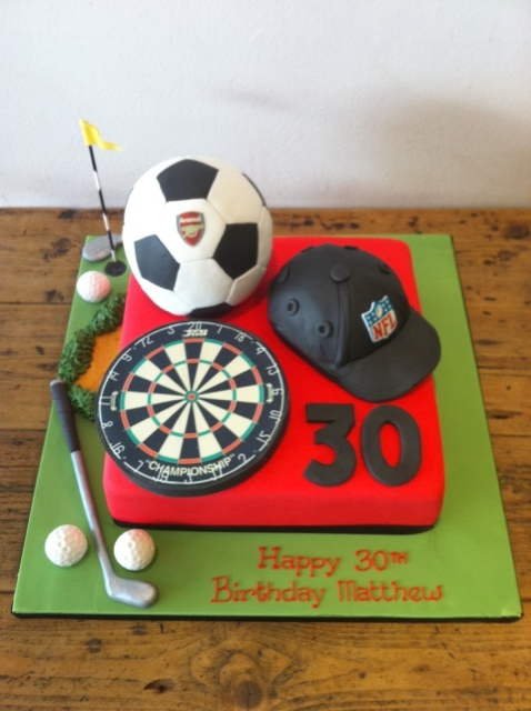Admirable Sports Themed Cakes Cakes By Robin Funny Birthday Cards Online Elaedamsfinfo