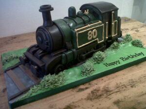 Steam engine birthday cake