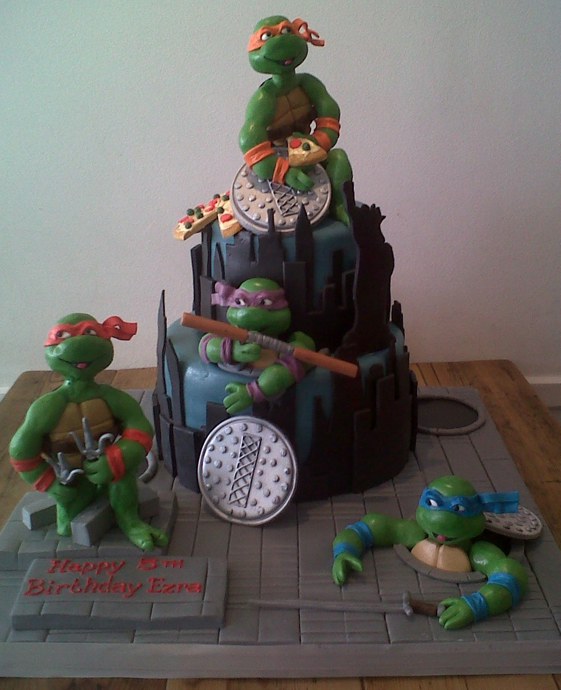 Stupendous Teenage Mutant Ninja Turtles Birthday Cake Cakes By Robin Funny Birthday Cards Online Fluifree Goldxyz