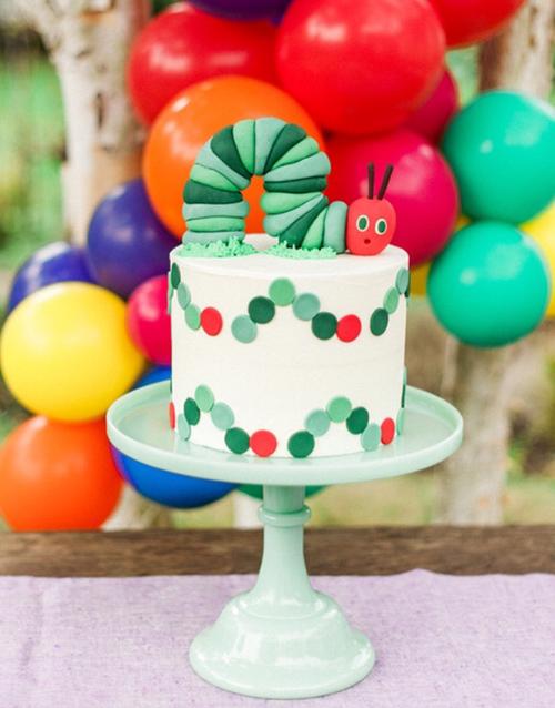 The Very Hungry Caterpilllar Birthday Cake