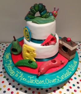 The Hungry Caterpillar birthday cake