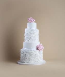 Timeless collection wedding cake pink flowers