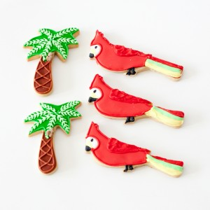 Parrot an palm tree cookies