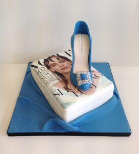 Vogue magazine and shoe cake