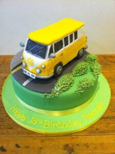 VW Camper Van birthday cake