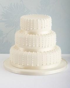 Traditional wedding cake