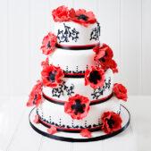 wedding_red_black_flowers