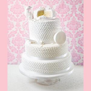 White mouse wedding cake